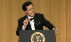 Watch Stephen Colbert at the 2006 White House Correspondents' Dinner