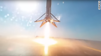 spacex landing 360 video
