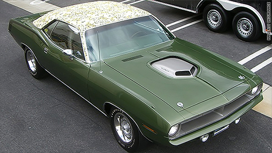 Flowered muscle car worth $1.4 million stolen