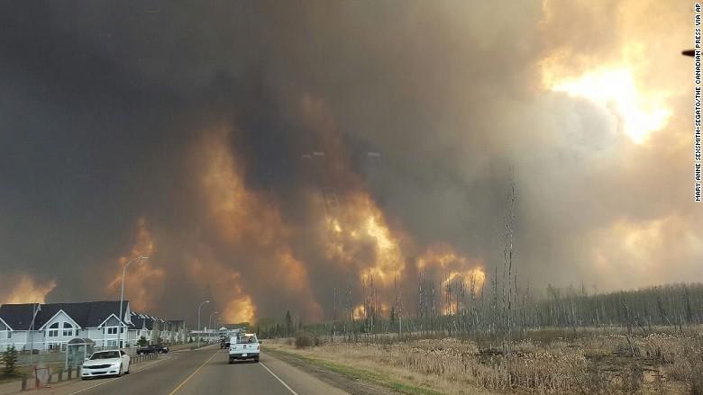 Raging wildfires in Canada threaten oil supply
