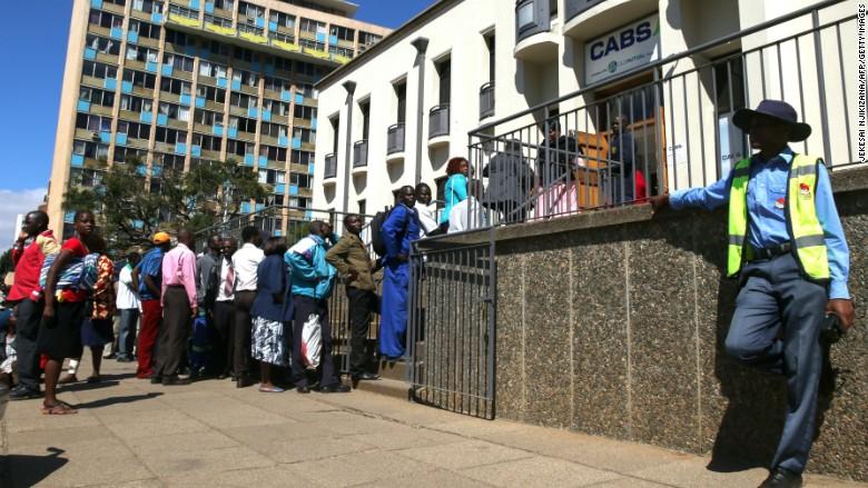 zimbabwe bank run cash money