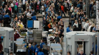 denver airport security line