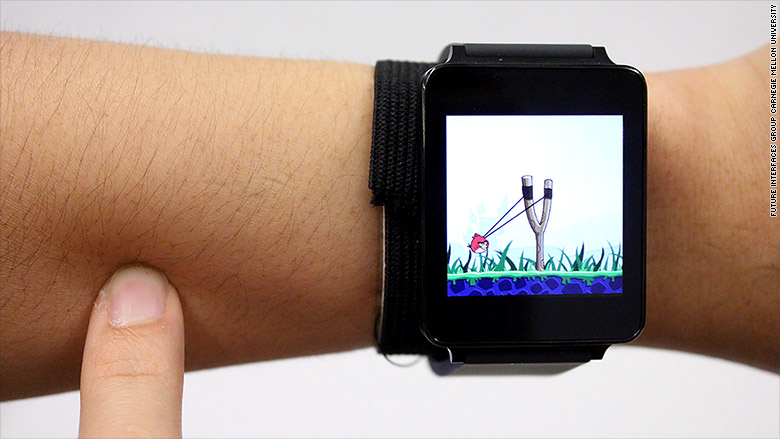 This watch turns your arm into a touchscreen