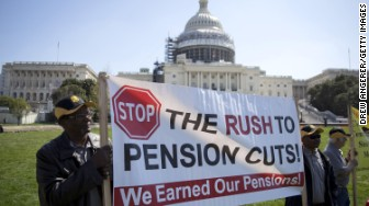 pension cuts white house