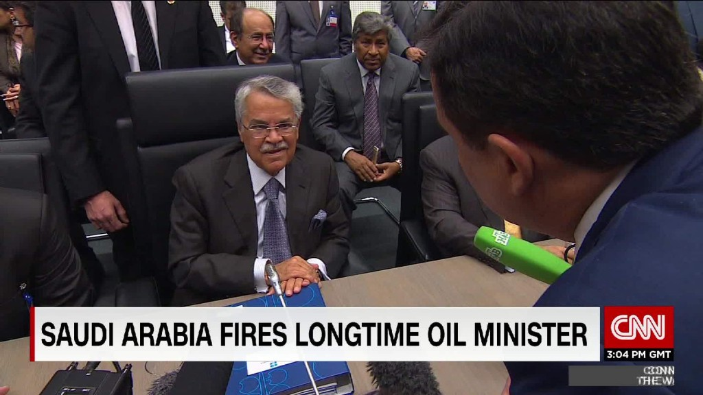 Saudi Arabia fires longtime oil minister