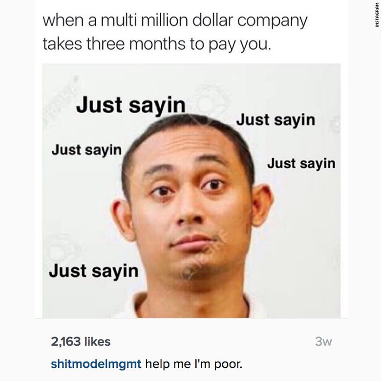 runway injustice instagram payments