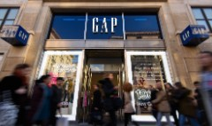 More trouble at the mall. Gap sales sink again