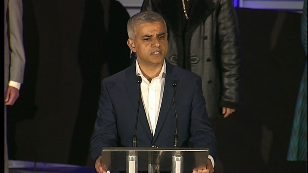 Sadiq Khan makes history in London's mayoral race