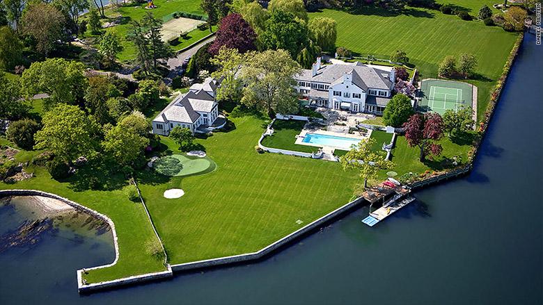 trump greenwich mansion aerial