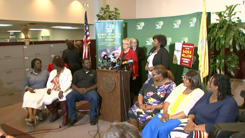 New Jersey family claims $429.6 million Powerball prize