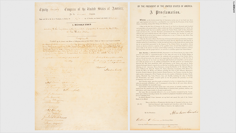 13th amendment proclamation split