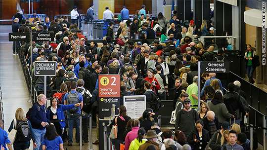 Who's to blame for the long airport security lines?