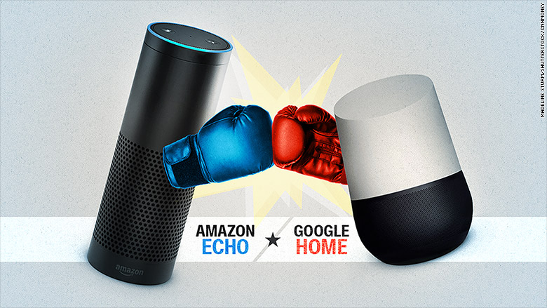 battle of the smart speakers google home vs amazon echo. Black Bedroom Furniture Sets. Home Design Ideas