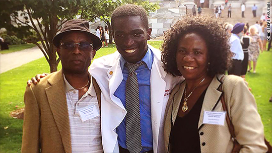 Nigerian immigrant dreams of finding cures for infectious diseases