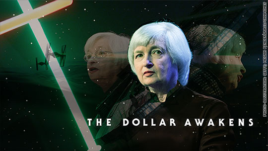 U.S. dollar awakens ahead of Yellen speech