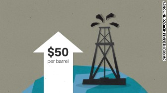 oil 50 dollars barrel