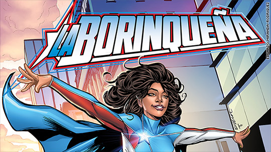 Comic book maker creates a female superhero for Puerto Rico