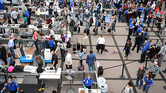 Are airport security lines getting any better?
