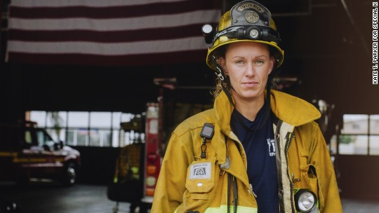 How she plans to inspire more women firefighters