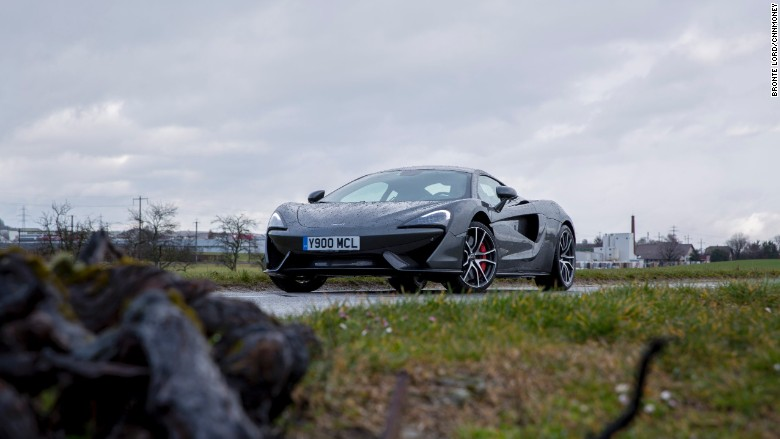 mclaren 570s front with foreground
