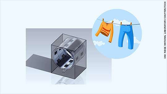 Ultrasonic dryer will dry clothes in half the time