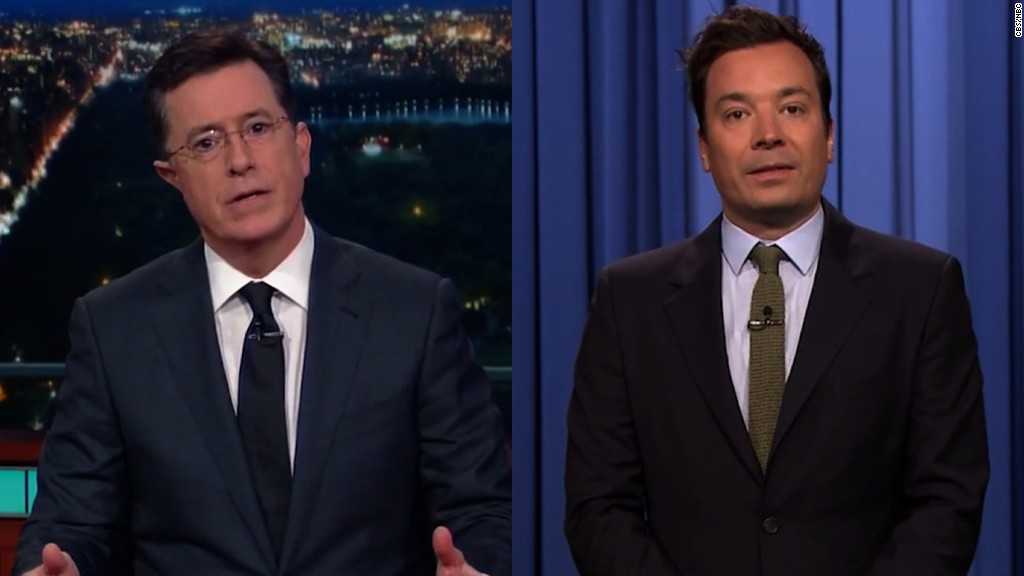 Colbert and Fallon get emotional about Orlando tragedy