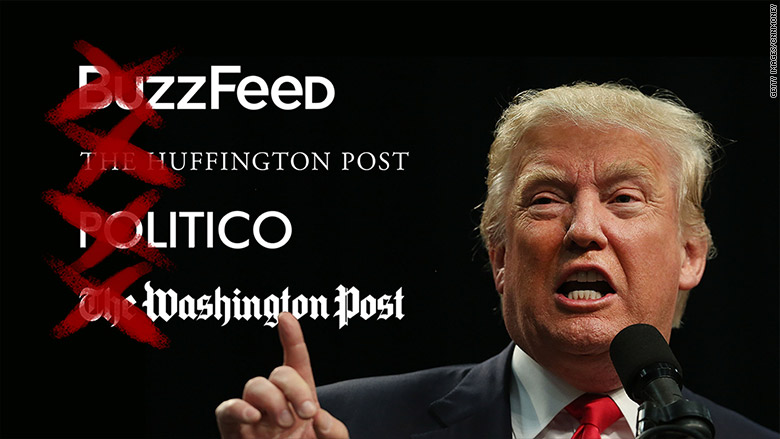 Trump Bans Buzzfeed, HuffPo, Politico, Washington Post
