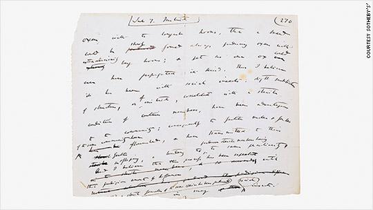 Darwin manuscript page sells for $250,000