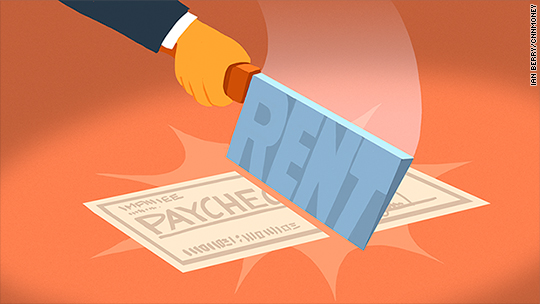 11 million Americans spend half their income on rent