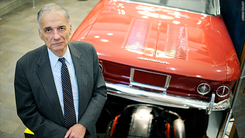 Ralph Nader goes from auto industry nemesis to Hall of Famer