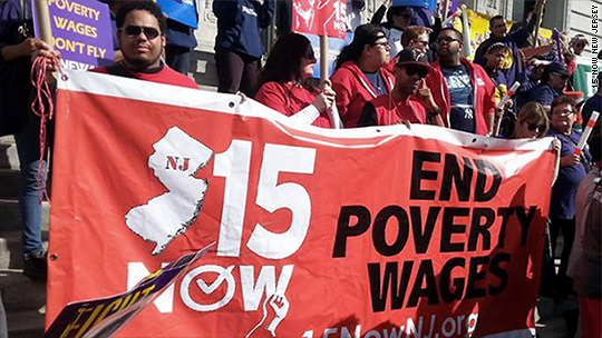 New Jersey passes $15 minimum wage ... but Gov. Christie may veto
