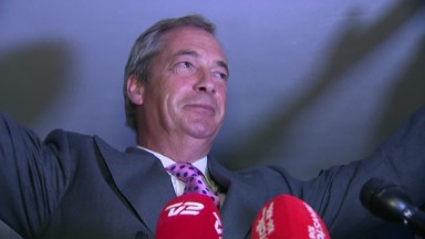 Nigel Farage projects Brexit victory