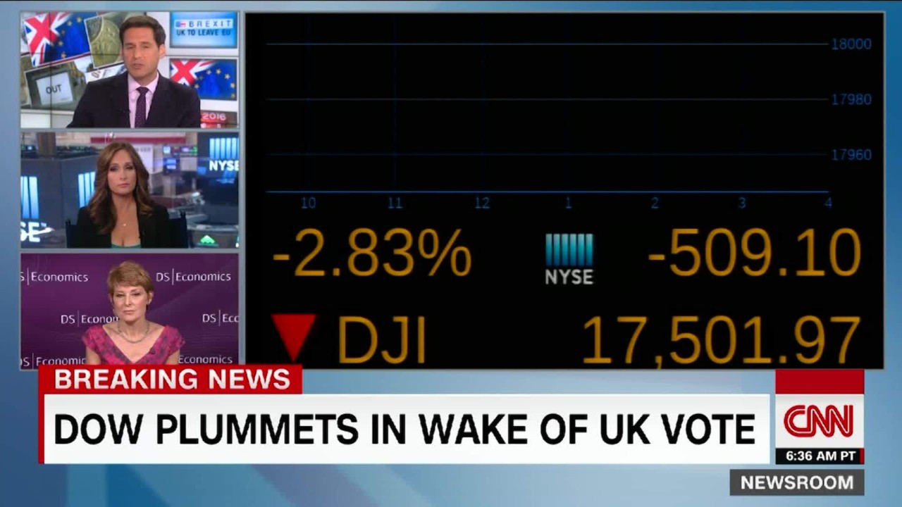 Investors in the united states sold stocks after britain voted to