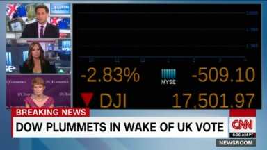 Brexit: U.S. markets drop at start of trading