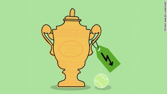 Wimbledon winners will feel the pound's crash