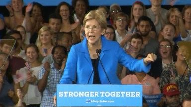Elizabeth Warren stumps for Hillary, slams Donald Trump