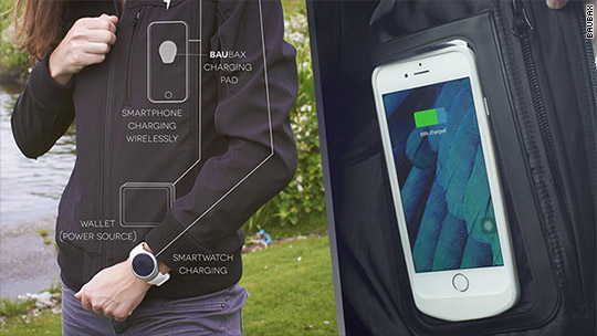 These clothes can wirelessly charge your phone
