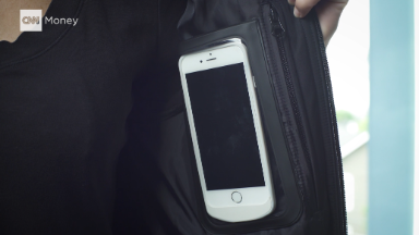 This jacket comes with a built-in phone charger