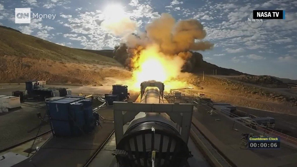 NASA tests the rocket booster that will go to Mars