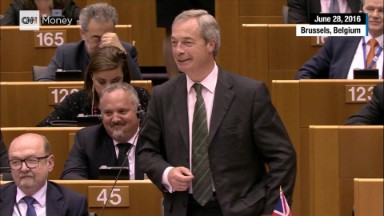 Brexit leader booed at EU parliament