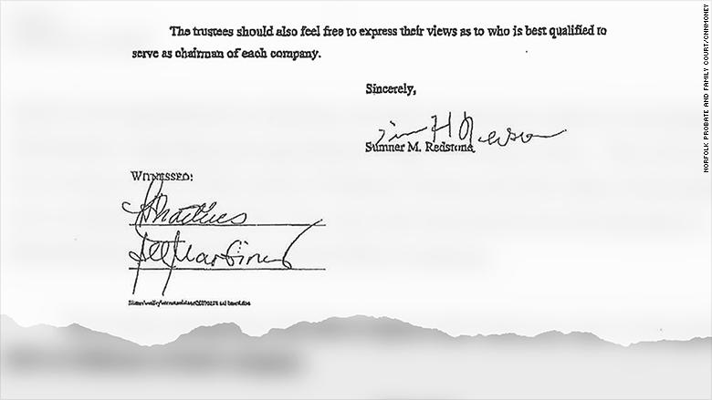 sumner redstone document 2