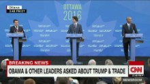 Heads of U.S., Mexico and Canada fight isolationism