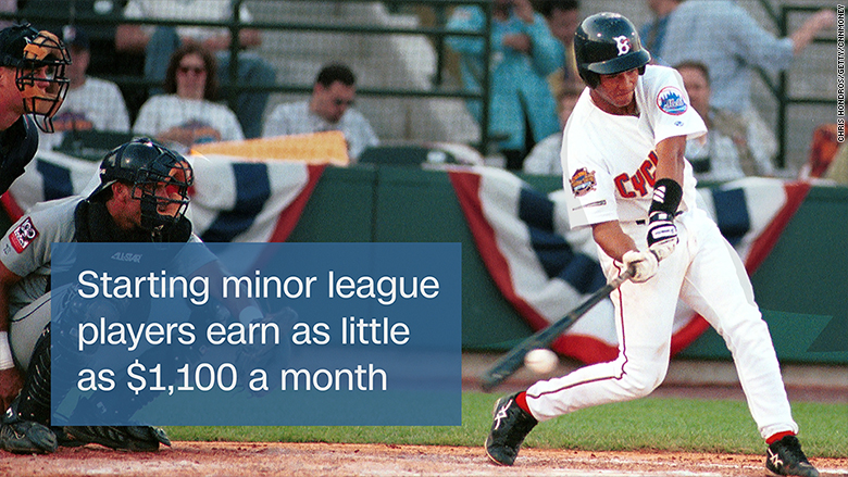 Pay for minor league baseball players under fire
