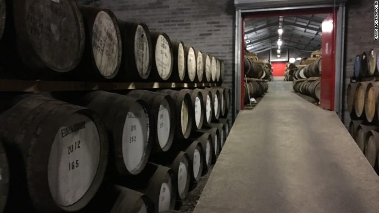 brexit whisky cellar barrels