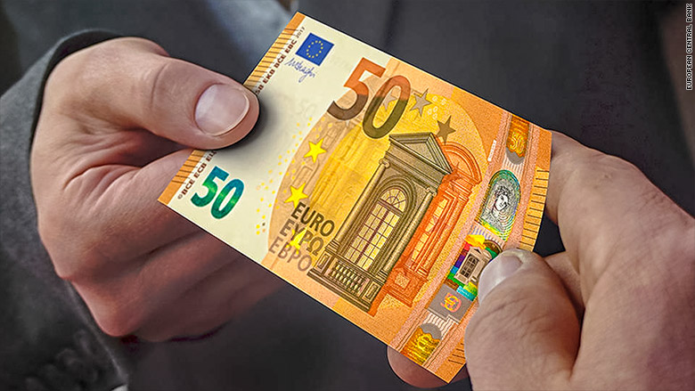 Europe unveils its new secure €50 note
