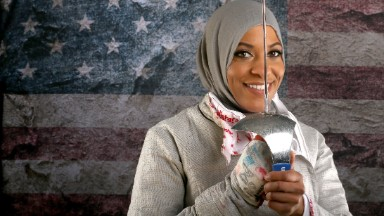 First U.S. Olympic Muslim athlete to wear a hijab