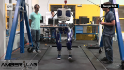 This robot is designed to strut like a human