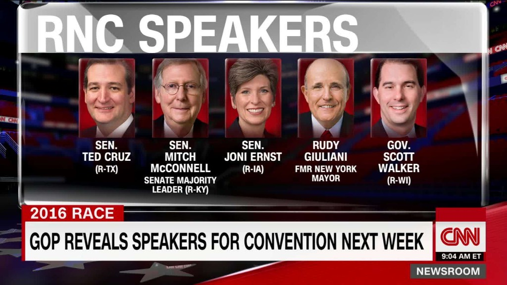 GOP reveals speakers for Republican National Convention