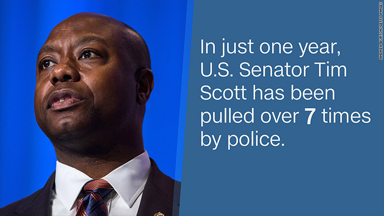 senator tim scott pulled over