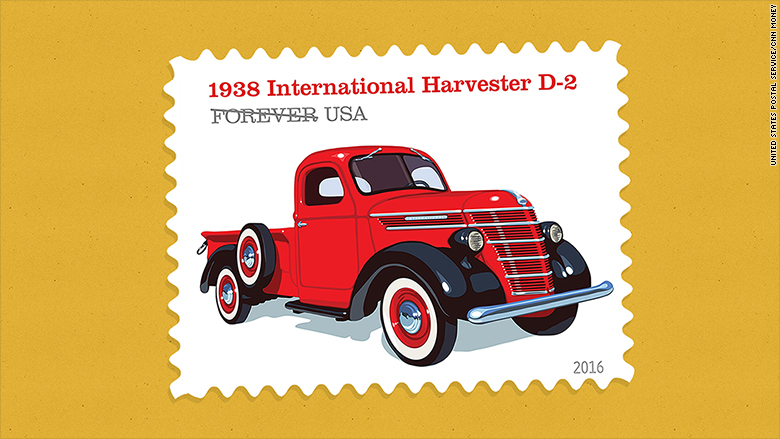 retro truck stamps 1938